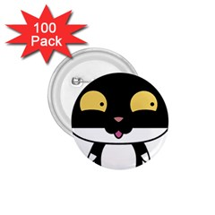 Panda Cat 1.75  Buttons (100 pack)