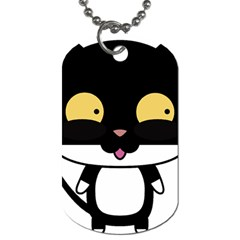 Panda Cat Dog Tag (One Side)