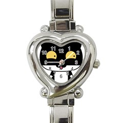 Panda Cat Heart Italian Charm Watch