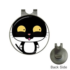 Panda Cat Hat Clips with Golf Markers