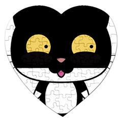 Panda Cat Jigsaw Puzzle (Heart)