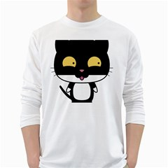 Panda Cat White Long Sleeve T-Shirts