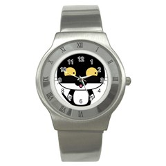 Panda Cat Stainless Steel Watch
