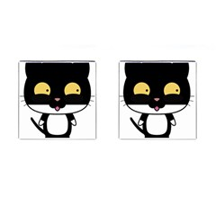 Panda Cat Cufflinks (Square)