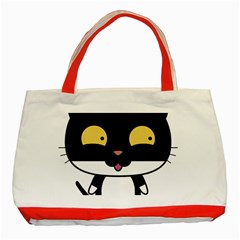 Panda Cat Classic Tote Bag (Red)