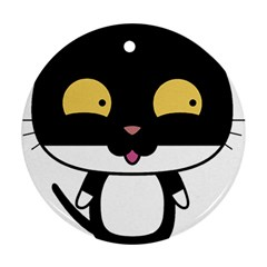 Panda Cat Round Ornament (Two Sides)