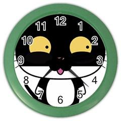 Panda Cat Color Wall Clocks