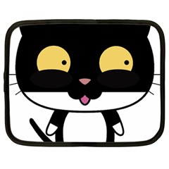 Panda Cat Netbook Case (Large)
