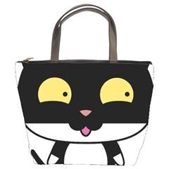Panda Cat Bucket Bags