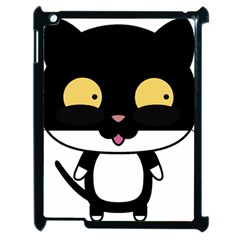 Panda Cat Apple iPad 2 Case (Black)