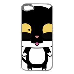 Panda Cat Apple iPhone 5 Case (Silver)