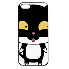 Panda Cat Apple iPhone 5 Seamless Case (Black)