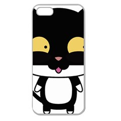 Panda Cat Apple Seamless iPhone 5 Case (Clear)