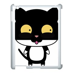 Panda Cat Apple iPad 3/4 Case (White)