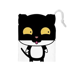 Panda Cat Drawstring Pouches (Medium)