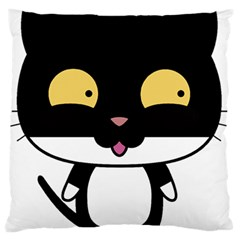 Panda Cat Standard Flano Cushion Case (One Side)