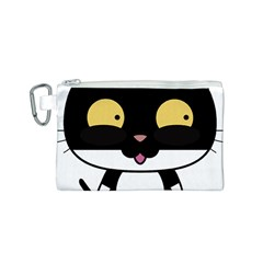Panda Cat Canvas Cosmetic Bag (S)