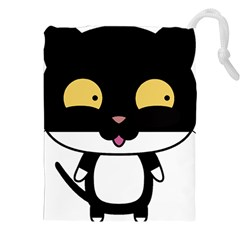 Panda Cat Drawstring Pouches (XXL)