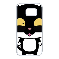 Panda Cat Samsung Galaxy S7 White Seamless Case