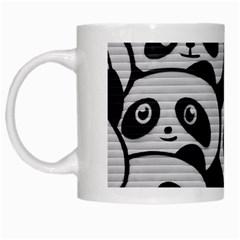 Panda Bg White Mugs