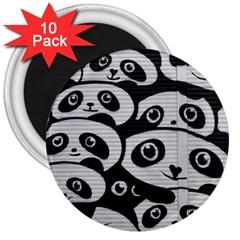 Panda Bg 3  Magnets (10 pack)