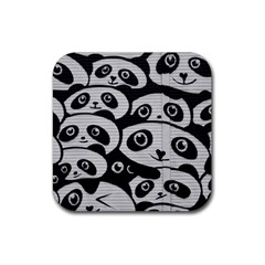Panda Bg Rubber Square Coaster (4 pack)