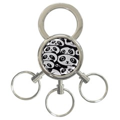 Panda Bg 3-Ring Key Chains