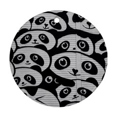 Panda Bg Round Ornament (Two Sides)
