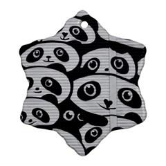 Panda Bg Snowflake Ornament (Two Sides)