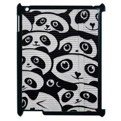 Panda Bg Apple iPad 2 Case (Black)