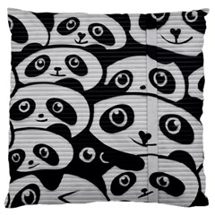 Panda Bg Large Cushion Case (Two Sides)
