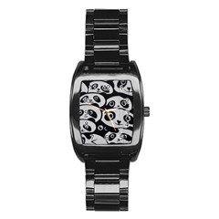 Panda Bg Stainless Steel Barrel Watch