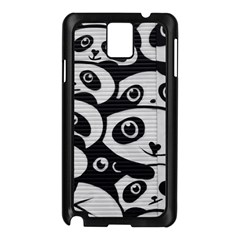 Panda Bg Samsung Galaxy Note 3 N9005 Case (Black)