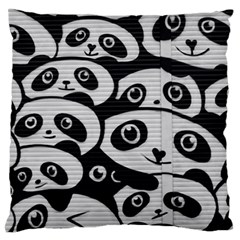 Panda Bg Large Flano Cushion Case (Two Sides)