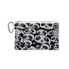 Panda Bg Canvas Cosmetic Bag (S)