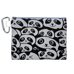Panda Bg Canvas Cosmetic Bag (XL)