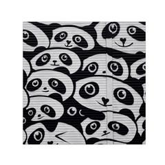 Panda Bg Small Satin Scarf (Square)