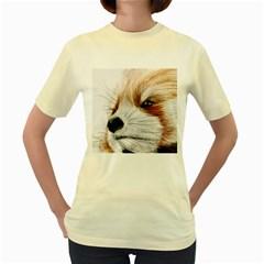 Panda Art Women s Yellow T-Shirt