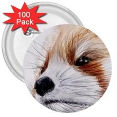 Panda Art 3  Buttons (100 pack)