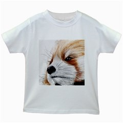 Panda Art Kids White T-Shirts