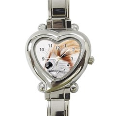 Panda Art Heart Italian Charm Watch