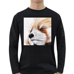 Panda Art Long Sleeve Dark T-Shirts