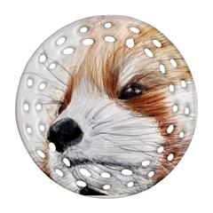 Panda Art Ornament (Round Filigree)