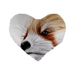 Panda Art Standard 16  Premium Heart Shape Cushions