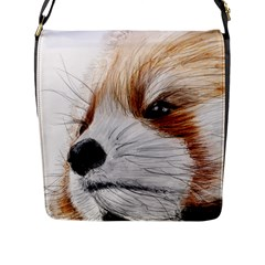 Panda Art Flap Messenger Bag (L)