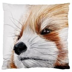 Panda Art Large Flano Cushion Case (Two Sides)