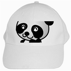 Adorable Panda White Cap