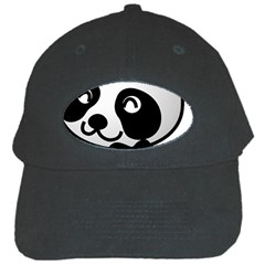 Adorable Panda Black Cap
