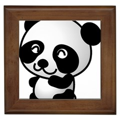 Adorable Panda Framed Tiles