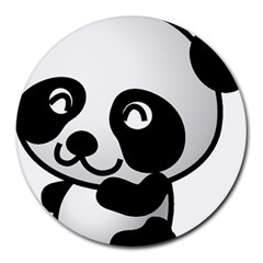 Adorable Panda Round Mousepads